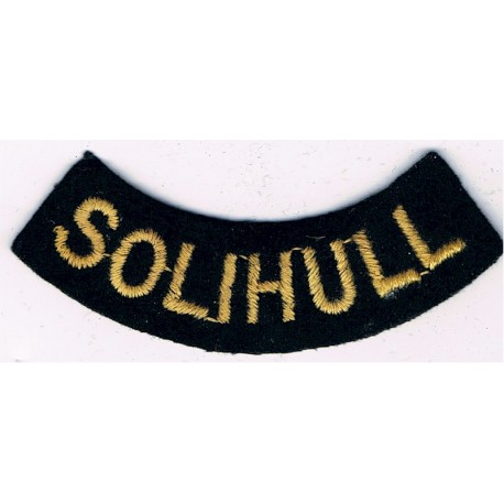 Southampton (Curved Chest Title) Yellow On Dark Blue Embroidered Civil Defence
