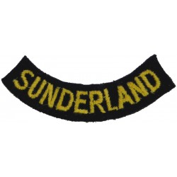 Sunderland (Curved Chest Title) Yellow On Dark Blue  Embroidered Civil Defence