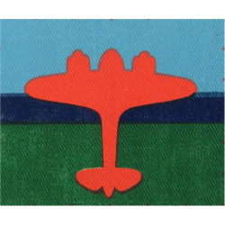 Air Formation Signals (Red Plane On Sky/Blue/Red)   Printed Military Formation arm badge