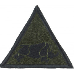1 (UK) Armoured Division (Charging Rhino In Triangle Subdued On Olive  Embroidered Military Formation arm badge