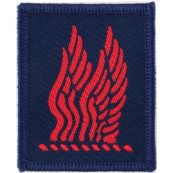 24 Airmobile Brigade HQ & Signal Squadron Red Wings On Blue  Woven Military Formation arm badge