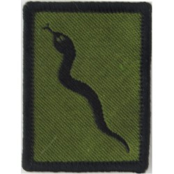101 Logistic Brigade (Black Adder) - Black Edge FL - Black On Olive  Woven Military Formation arm badge