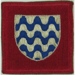 15th Army Group ( White Shield / Blue Wavy Lines On Red) 1943-45 US Type  Embroidered Military Formation arm badge