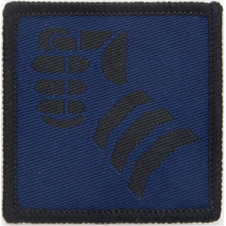 1st Artillery Brigade (Ram's Head On Olive Rectangle Subdued Woven Military Formation arm badge