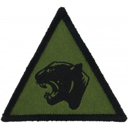15 Psychological Operations Group (Stag's Head / XV) Black On Olive Small Embroidered Military Formation arm badge