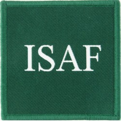International Security Assistance Force Afghanistan ISAF On Green Square  Woven Military Formation arm badge