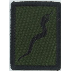 Defence Medical Welfare Service Black On Olive Green Embroidered Military Formation arm badge