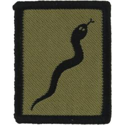 101 Logistic Brigade (Black Adder) - Black Edge FR - Black On Sand  Woven Military Formation arm badge