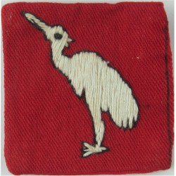 404th (East Bengal) Lines Of Communication Area - FL White Bird On Red Sq  Embroidered Military Formation arm badge