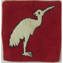 404th (East Bengal) Lines Of Communication Area - FR White Bird On Red Sq  Embroidered Military Formation arm badge