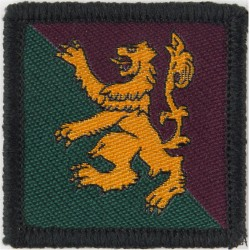 51 (Scottish) Brigade (Yellow Lion On Green/ Purple) New Issue - 2003  Woven Military Formation arm badge
