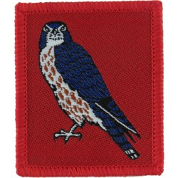15 (North East) Brigade (Changed Direction 2003) Merlin FL On Red  Woven Military Formation arm badge