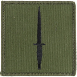 3 Commando Brigade (Black Dagger On Olive Square)   Embroidered Military Formation arm badge