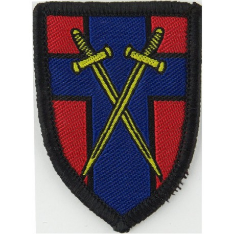 7th Air Defence Brigade (Black Centaur On Olive) Subdued  Embroidered Military Formation arm badge