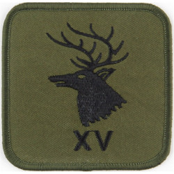 15 Psychological Operations Group (Stag's Head / XV) Black On Olive Large  Embroidered Military Formation arm badge