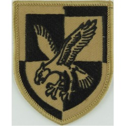16 Air Assault Brigade - Eagle On Quartered Shield Black On Sand Desert  Embroidered Military Formation arm badge