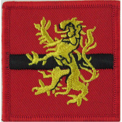Army HQ Scotland (Yellow Lion On Red/ Black/ Red) FL - Modern Issue  Embroidered Military Formation arm badge