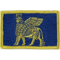 Multi-National Division (South East) MND (SE) - Iraq Yellow Assyrian Lion  Embroidered Military Formation arm badge