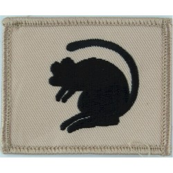 4th Armoured Brigade (Black Rat On Sand) FR - Gulf Issue  Embroidered Military Formation arm badge