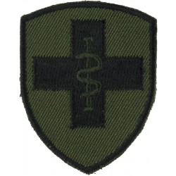 2 Medical Brigade Black On Olive Green  Embroidered Military Formation arm badge