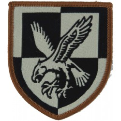 16 Air Assault Brigade - Eagle On Quartered Shield Black On Sand Desert  Woven Military Formation arm badge