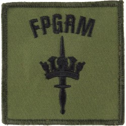 Fleet Protection Group Royal Marines (was Commachio) Black On Olive  Embroidered Military Formation arm badge