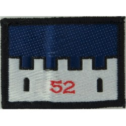52 Infantry Brigade (52 On White Castle On Blue)   Woven Military Formation arm badge