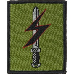 Special Forces Support Group Lightning On Sword  Woven Military Formation arm badge