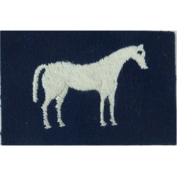 26 Engineer Group (White Horse On Big Blue Rectangle   Embroidered Military Formation arm badge
