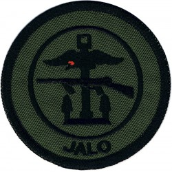 Joint Air Land Organisation (Combined Ops JALO Disc) Black On Olive  Embroidered Military Formation arm badge