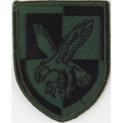 16 Air Assault Brigade - Eagle On Quartered Shield Black On Dark Green  Embroidered Military Formation arm badge
