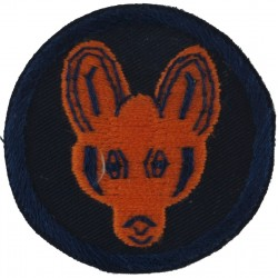 1 Reconnaissance Brigade (Brown Fox's Mask On Navy Disc)  Embroidered Military Formation arm badge