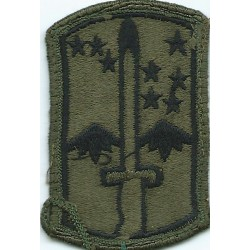 172nd Infantry Brigade Subdued  Embroidered US Army shoulder sleeve insignia - SSI