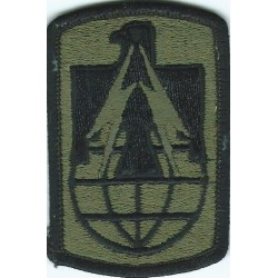 11th Signal Brigade Subdued  Embroidered US Army shoulder sleeve insignia - SSI