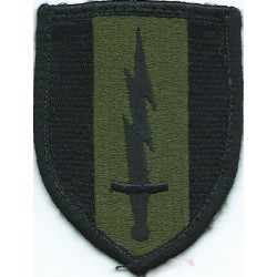 1st Signal Brigade Subdued  Embroidered US Army shoulder sleeve insignia - SSI