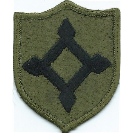 Arm-Badge Swedish Troops 'Sverige' / 3-Crown Shield 1960's Pattern: Sand  Woven United Nations insignia