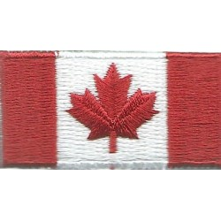 Arm-Flag - Canadian Troops 50mm X 25mm  Embroidered United Nations insignia
