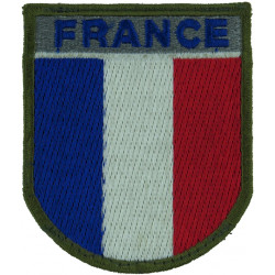 Arm-Badge - French Troops (France Shield) 75mm X 64mm  Embroidered United Nations insignia