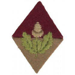 Army Cadet Force: Cheshire (Acorn & Leaves On Maroon / Cerise Diamond)  Embroidered Cadet, training or school insignia