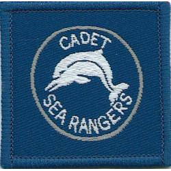 Cadet Sea Rangers Dolphin Badge  Woven Cadet, training or school insignia