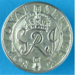 For Loyal Service - GRI - WW2 Wounded Soldiers Badge Buttonhole Badge with King's Crown. White Metal Lapel or sweet-heart badge