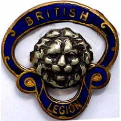 British Legion Button-Hole Badge - Pre-1971 - Small Serial Numbered  Gilt and enamel Lapel or sweet-heart badge