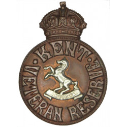 Kent Veteran Reserve (WM Invicta Horse In Centre) Buttonhole Badge WW1 with King's Crown. Bronze Lapel or sweet-heart badge