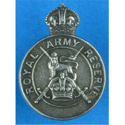 Royal Army Reserve Buttonhole Badge Hall-Marked 1938 with King's Crown. Silver Lapel or sweet-heart badge