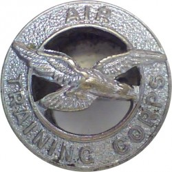 Air Training Corps Buttonhole Badge  Chrome-plated Lapel or sweet-heart badge