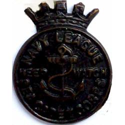 Navy League Sea Cadet Corps Buttonhole Badge 1919-1942 Keep Watch  Bronze Lapel or sweet-heart badge