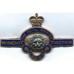 Royal British Legion Women's Section - Post-1971  with Queen Elizabeth's Crown. Gilt and enamel Lapel or sweet-heart badge
