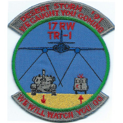 17 Reconnaissance Wing TR-1 'We Caught You Coming..' Spy plane crew badge  Embroidered Gulf War cloth badge