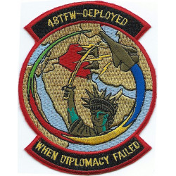 48 Tac Ftr Wing - Deployed When Diplomacy Failed   Embroidered Gulf War cloth badge
