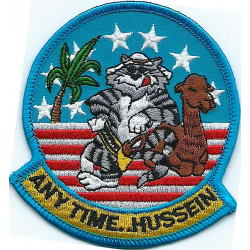 Any time Hussein.... (Tomcat aircrew) small  Embroidered Gulf War cloth badge